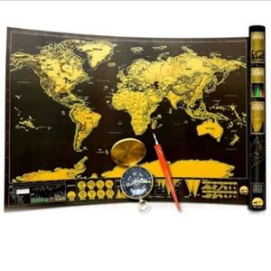 Other - Scratch-Off Interactive World Map Reseller or Kids
